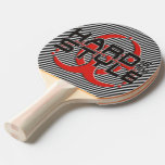 HARD is my STYLE - black & white stripes Ping Pong Paddle