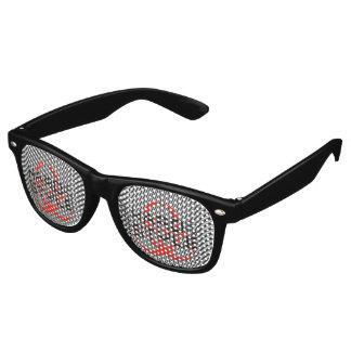 HARD is my STYLE - black & white stripes Retro Sunglasses