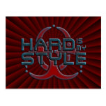 hard is my style - dark red radial   hardstyle postcard