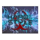 hard is my style - splattergrunge blue | hardstyle postcard