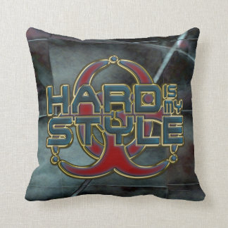 HARD is my STYLE + your background image Throw Pillow