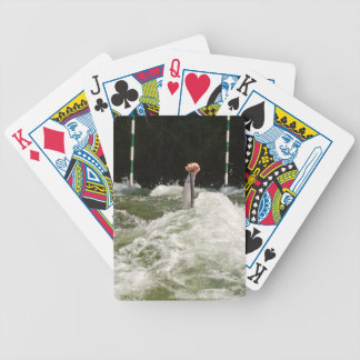 Hard paddling bicycle playing cards