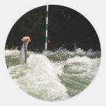 Hard Paddling Classic Round Sticker
