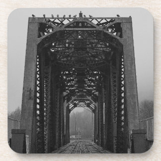 Hard Plastic Coasters w/ cork back (6) - Bridge