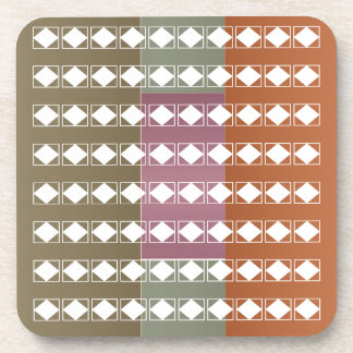 Hard Plastic coasters with cork back - set of 6