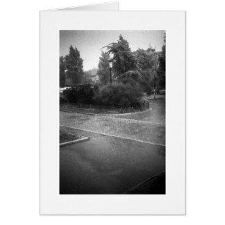 HARD RAIN Card Greeting Card