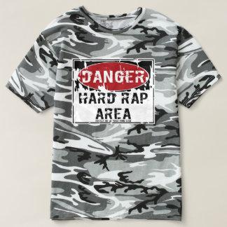 HARD RAP AREA - BATTLE ME AT YOUR OWN RISK - CAMO T-SHIRT