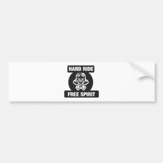 Hard ride free spirit bumper sticker