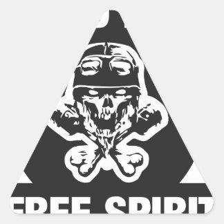 Hard ride free spirit triangle sticker