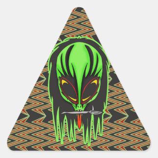 Hard Rock Alien Band Member Triangle Sticker