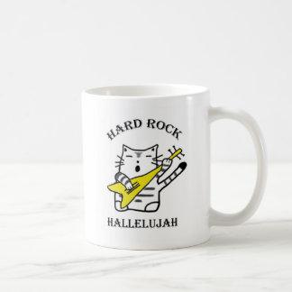 Hard rock cat coffee mug