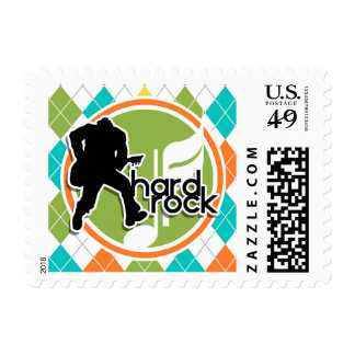 Hard Rock; Colorful Argyle Pattern Postage