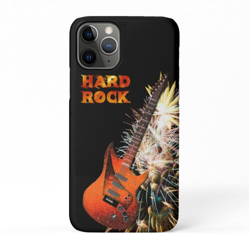 Hard Rock, Electric Guitar and Fireworks iPhone 11 Pro Case