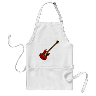 Hard Rock Electric Guitars (red) Adult Apron