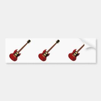 Hard Rock Electric Guitars (red) Bumper Sticker