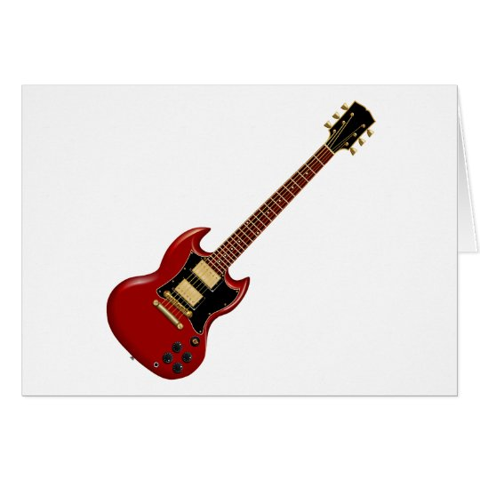 Hard Rock Electric Guitars (red) Card