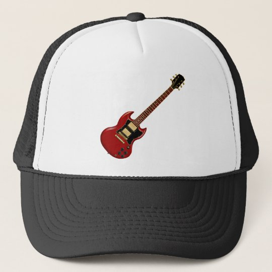 Hard Rock Electric Guitars (red) Trucker Hat