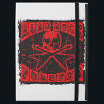 """hard rock forever iPad pro 12.9&quot; case<br><div class=""""desc"""">Skull with crossed guitars on abstract grunge background. Inscription hard rock forever.</div>"""