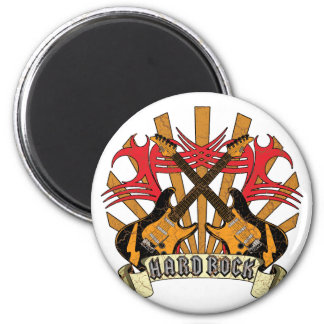 Hard Rock Guitars 2 Inch Round Magnet