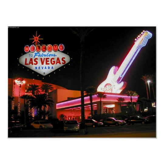 Hard Rock Hotel Las Vegas Poster Zazzle Com