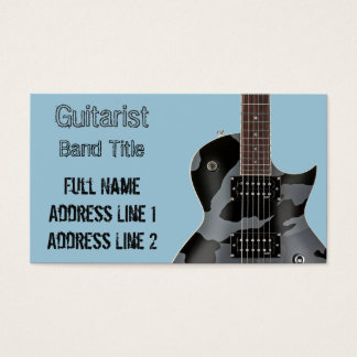 Hard Rock/Metal Musician Business Card