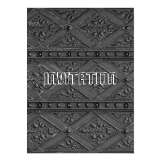 Hard rock music party invitation