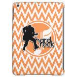 Hard Rock; Orange and White Chevron Cover For iPad Air