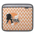 Hard Rock; Orange and White Chevron Sleeves For iPads