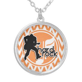 Hard Rock; Orange and White Chevron Custom Jewelry