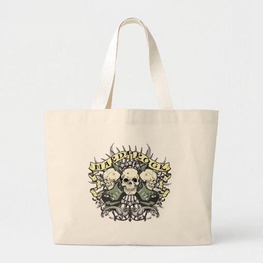 Hard Rock Skull and Guitars Canvas Bag