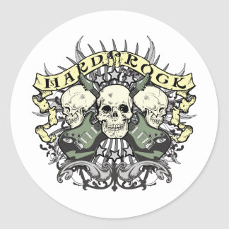 Hard Rock Skull and Guitars Stickers
