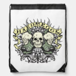Hard Rock Skulls and Guitars Music Drawstring Bag Cinch Bags