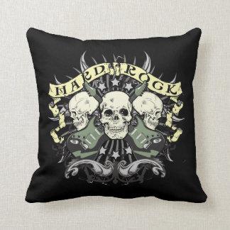 Hard Rock Skulls Throw Pillow Music Lovers Throw Pillow