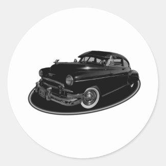hard rollin classic round sticker