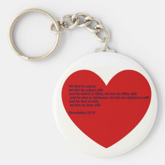 Hard Sayings Bible Verses Basic Round Button Keychain