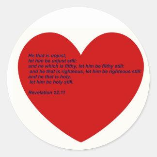 Hard Sayings Bible Verses Classic Round Sticker