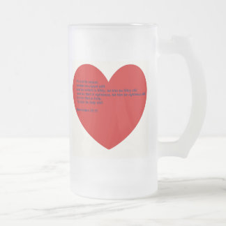 Hard Sayings Bible Verses Frosted Glass Beer Mug
