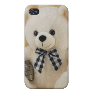 Hard Shell Case for iPhone 4/4S, Cutie Teddy Bear