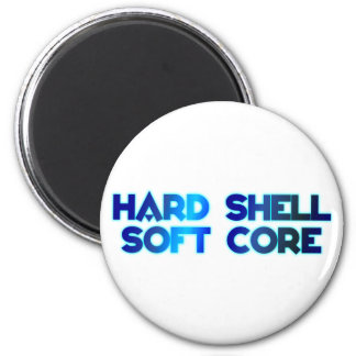 hard shell softly core 2 inch round magnet