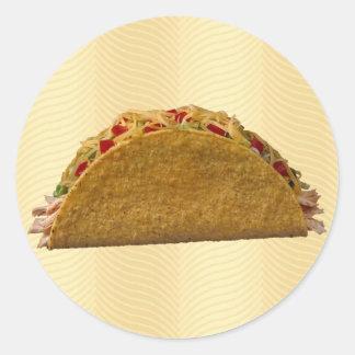 Hard Shell Taco Classic Round Sticker