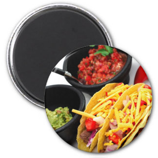 Hard Shell Taco's 2 Inch Round Magnet