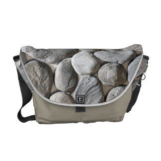 Hard Stone stylish bag with oval grey stones Courier Bags