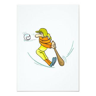 Hard Swing Baseball Bat Card