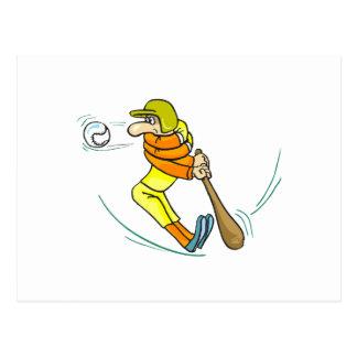 Hard Swing Baseball Bat Postcard