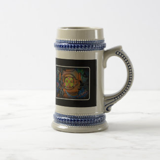 """""""Hard times for the Aquanaut"""" Stein 18 Oz Beer Stein"""