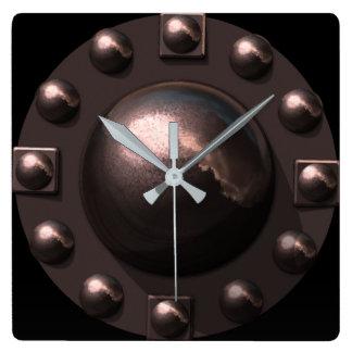 Hard Times Square Wall Clock