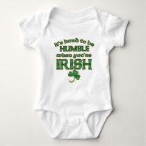 Hard to be Humble Irish Joke Baby Baby Bodysuit