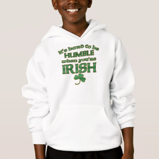 Hard to be Humble Irish Joke Kid's Hoodies
