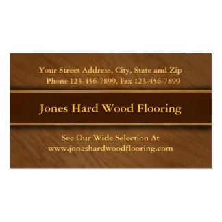 Hard Wood Flooring Sales Business Card