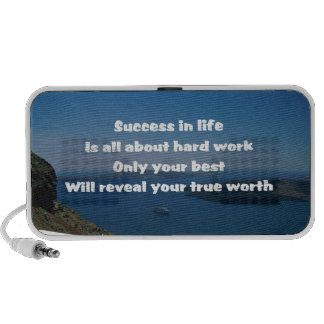 Hard work and success notebook speaker